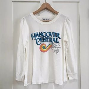 [Wildfox] Hangover Unicorn Distressed Top